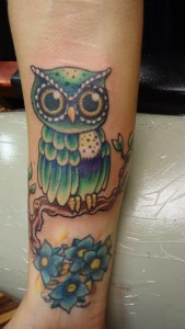 Owl_flowers_tattoo_Rick_Donovan