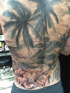 Pelican_Palm__Hibiscus__Beach_Tattoo_Abdiel_Pedraza